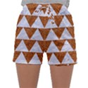 TRIANGLE2 WHITE MARBLE & RUSTED METAL Sleepwear Shorts View1