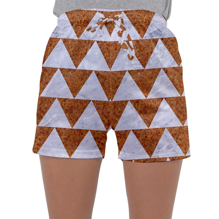 TRIANGLE2 WHITE MARBLE & RUSTED METAL Sleepwear Shorts