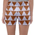 TRIANGLE2 WHITE MARBLE & RUSTED METAL Sleepwear Shorts View2