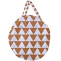 TRIANGLE2 WHITE MARBLE & RUSTED METAL Giant Round Zipper Tote View2