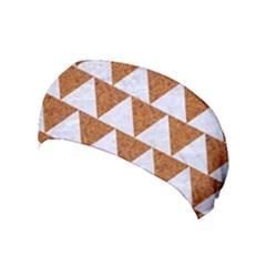 Triangle2 White Marble & Rusted Metal Yoga Headband