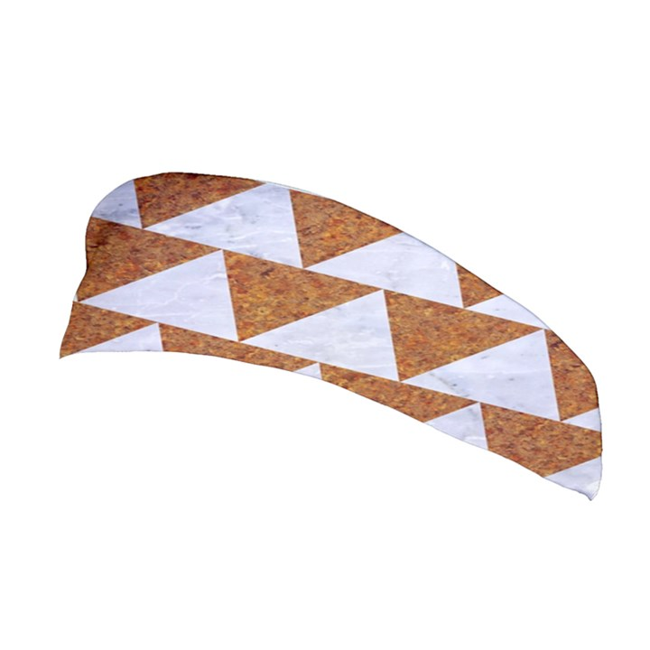 TRIANGLE2 WHITE MARBLE & RUSTED METAL Stretchable Headband