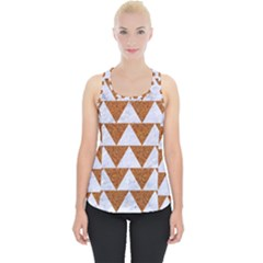 Triangle2 White Marble & Rusted Metal Piece Up Tank Top