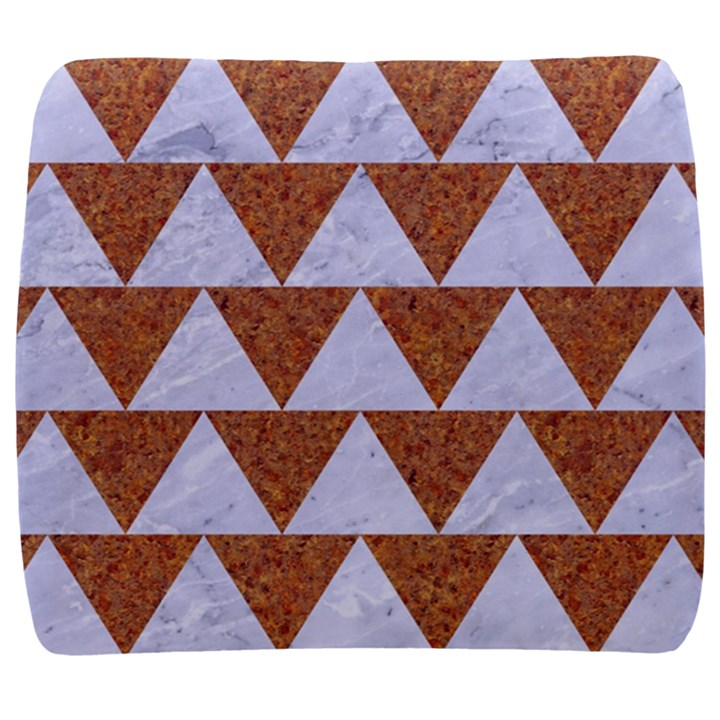 TRIANGLE2 WHITE MARBLE & RUSTED METAL Back Support Cushion