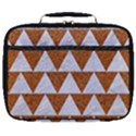 TRIANGLE2 WHITE MARBLE & RUSTED METAL Full Print Lunch Bag View1