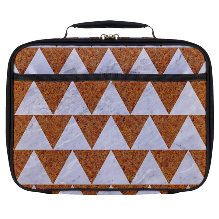 TRIANGLE2 WHITE MARBLE & RUSTED METAL Full Print Lunch Bag