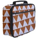 TRIANGLE2 WHITE MARBLE & RUSTED METAL Full Print Lunch Bag View3