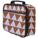 TRIANGLE2 WHITE MARBLE & RUSTED METAL Full Print Lunch Bag View4
