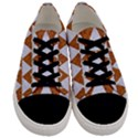 TRIANGLE2 WHITE MARBLE & RUSTED METAL Men s Low Top Canvas Sneakers View1