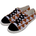 TRIANGLE2 WHITE MARBLE & RUSTED METAL Men s Low Top Canvas Sneakers View2