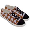 TRIANGLE2 WHITE MARBLE & RUSTED METAL Men s Low Top Canvas Sneakers View3
