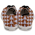 TRIANGLE2 WHITE MARBLE & RUSTED METAL Men s Low Top Canvas Sneakers View4