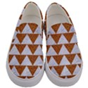 TRIANGLE2 WHITE MARBLE & RUSTED METAL Men s Canvas Slip Ons View1