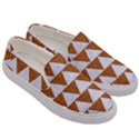 TRIANGLE2 WHITE MARBLE & RUSTED METAL Men s Canvas Slip Ons View3