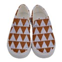 TRIANGLE2 WHITE MARBLE & RUSTED METAL Women s Canvas Slip Ons View1