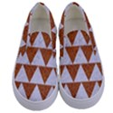 TRIANGLE2 WHITE MARBLE & RUSTED METAL Kids  Canvas Slip Ons View1