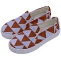 TRIANGLE2 WHITE MARBLE & RUSTED METAL Kids  Canvas Slip Ons View2