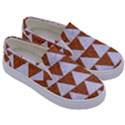 TRIANGLE2 WHITE MARBLE & RUSTED METAL Kids  Canvas Slip Ons View3