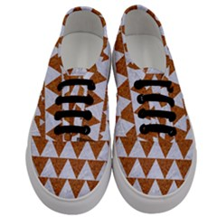 Triangle2 White Marble & Rusted Metal Men s Classic Low Top Sneakers
