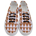 TRIANGLE2 WHITE MARBLE & RUSTED METAL Women s Classic Low Top Sneakers View1