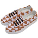 TRIANGLE2 WHITE MARBLE & RUSTED METAL Women s Classic Low Top Sneakers View2