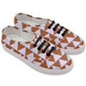 TRIANGLE2 WHITE MARBLE & RUSTED METAL Women s Classic Low Top Sneakers View3