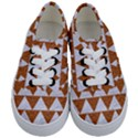 TRIANGLE2 WHITE MARBLE & RUSTED METAL Kids  Classic Low Top Sneakers View1