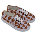 TRIANGLE2 WHITE MARBLE & RUSTED METAL Kids  Classic Low Top Sneakers View3