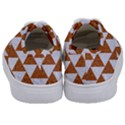 TRIANGLE2 WHITE MARBLE & RUSTED METAL Kids  Classic Low Top Sneakers View4