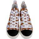 TRIANGLE2 WHITE MARBLE & RUSTED METAL Men s Mid-Top Canvas Sneakers View1