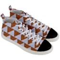 TRIANGLE2 WHITE MARBLE & RUSTED METAL Men s Mid-Top Canvas Sneakers View3