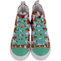 TRIANGLE2 WHITE MARBLE & RUSTED METAL Women s Mid-Top Canvas Sneakers View1