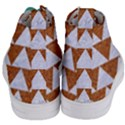 TRIANGLE2 WHITE MARBLE & RUSTED METAL Women s Mid-Top Canvas Sneakers View4