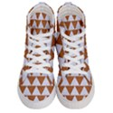 TRIANGLE2 WHITE MARBLE & RUSTED METAL Women s Hi-Top Skate Sneakers View1