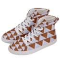 TRIANGLE2 WHITE MARBLE & RUSTED METAL Women s Hi-Top Skate Sneakers View2