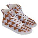 TRIANGLE2 WHITE MARBLE & RUSTED METAL Women s Hi-Top Skate Sneakers View3