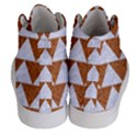 TRIANGLE2 WHITE MARBLE & RUSTED METAL Women s Hi-Top Skate Sneakers View4