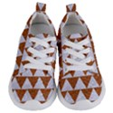 TRIANGLE2 WHITE MARBLE & RUSTED METAL Kids  Lightweight Sports Shoes View1