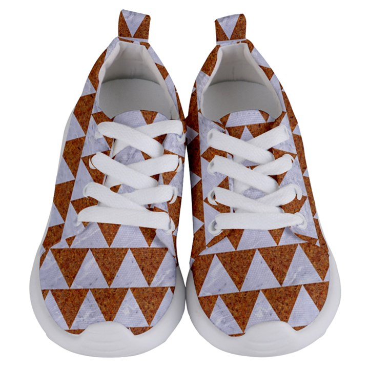 TRIANGLE2 WHITE MARBLE & RUSTED METAL Kids  Lightweight Sports Shoes