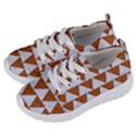 TRIANGLE2 WHITE MARBLE & RUSTED METAL Kids  Lightweight Sports Shoes View2