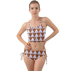 Triangle2 White Marble & Rusted Metal Mini Tank Bikini Set