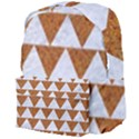 TRIANGLE2 WHITE MARBLE & RUSTED METAL Giant Full Print Backpack View4