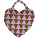 TRIANGLE2 WHITE MARBLE & RUSTED METAL Giant Heart Shaped Tote View1