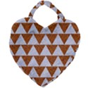 TRIANGLE2 WHITE MARBLE & RUSTED METAL Giant Heart Shaped Tote View2