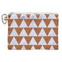 TRIANGLE2 WHITE MARBLE & RUSTED METAL Canvas Cosmetic Bag (XL) View1