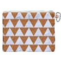 TRIANGLE2 WHITE MARBLE & RUSTED METAL Canvas Cosmetic Bag (XXL) View2