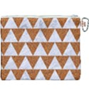 TRIANGLE2 WHITE MARBLE & RUSTED METAL Canvas Cosmetic Bag (XXXL) View2