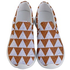Triangle2 White Marble & Rusted Metal Men s Lightweight Slip Ons