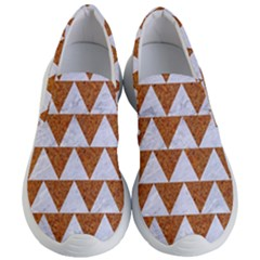 Triangle2 White Marble & Rusted Metal Women s Lightweight Slip Ons