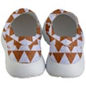 TRIANGLE2 WHITE MARBLE & RUSTED METAL Women s Lightweight Slip Ons View4